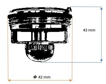 Размери на магнитен клапан Magdrain G50