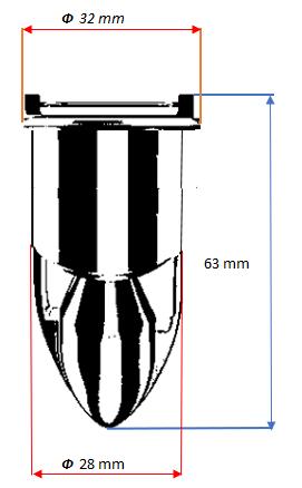 Размери на магнитен клапан Magdrain Q5-DBM